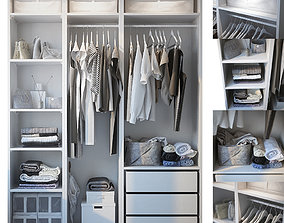 pants Wardrobe with clothing 3D