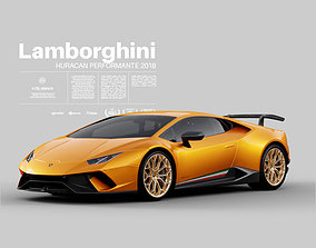 Lamborghini Huracan Performante 2018 - Exterior 3D model 1