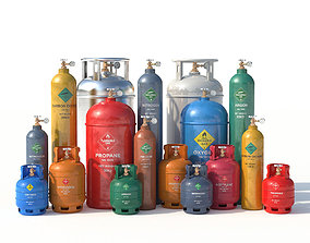 3D model welding Gas Cylinders