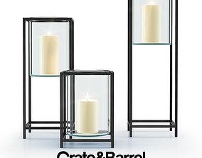 Reflection Framed Vase Hurricane 3D