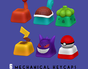 3D printable model 6 Keycaps for mechanical Keyboard - 2