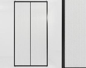 3D model Glass partition door 477
