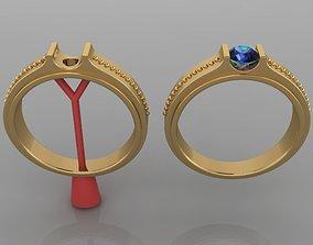 Fashion Mens Signet Diamond Band Size5 3D print model