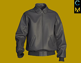 Leather bomber jacket MD CLO 3D model project marvelous