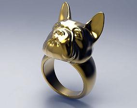 French Bulldog Ring STL for 3d printer