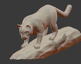 Panther 3D print model cougar