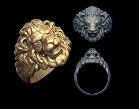 design 3D printable model Lion head ring