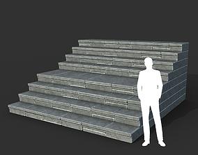 Low poly Ancient Roman Ruin Construction R4 - 3D asset 1
