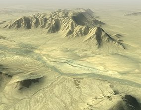 3D asset Desert Hills