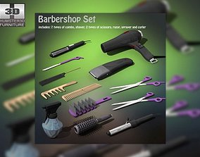 Barbershop Set 3D asset