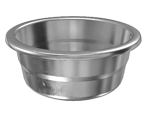 3D model Used stainless bowl kitchen dishes