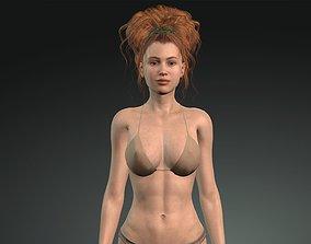 3D model rigged Linda