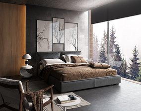 Bedroom Interior Scene for 3ds Max and Corona