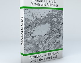 Montreal Streets and Buildings 3D