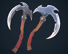 Stylized single-handed scythe weapon 3D model