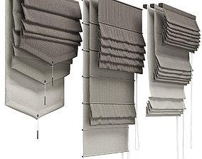 3D Roman blinds 3 types