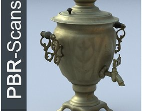 Samovar Low Poly 3D asset