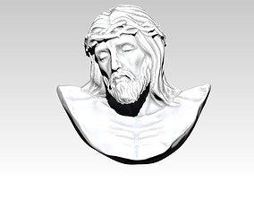 3D printable model detailed Jesus bust