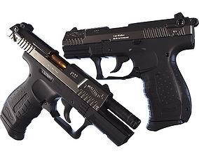 handgun Walter P22 3D
