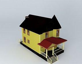 3D Victorian House door