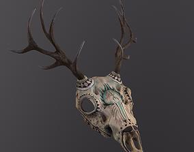 3D model Dear tribal skull
