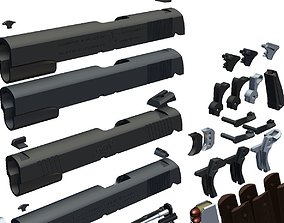 3D m1911 a1 all parts package