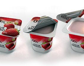 Openable Yogurt Cup 3D model