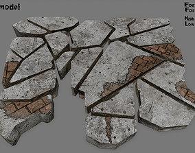 desert 3D asset low-poly stone set