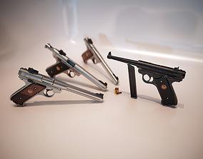 3D model unreal Lowpoly PBR Mark IV Pistol Pack