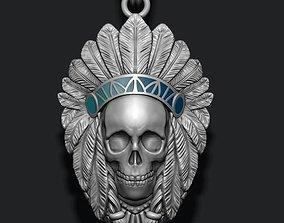 Native skull pendant 3D print model