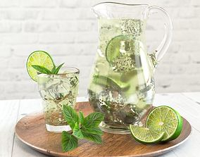 3D Mojito in a Glass Jug