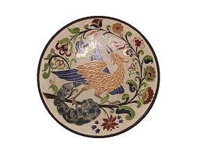 3D Traditional Plate -Bird