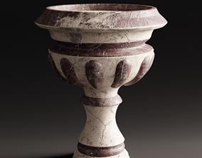 3D model Urn planter ruined