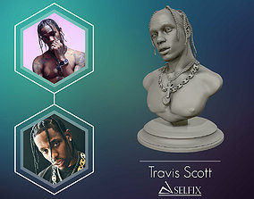 Travis Scott 3D sculpture ready to 3D print art