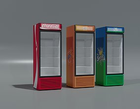 FRIDGE COCACOLA FRIDGE FANTA FRIDGE SPRITE 3D model