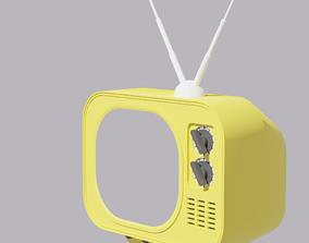 Cartoon Retro TV 3D asset vintage