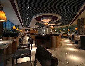 3D Business Restaurant - Coffee - Banquet 207