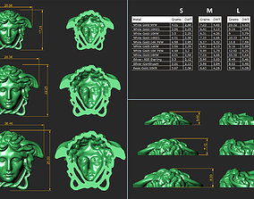Versace Medusa head Pack 3D print model