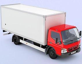 3D Mitsubishi FUSO Canter hard body cargo