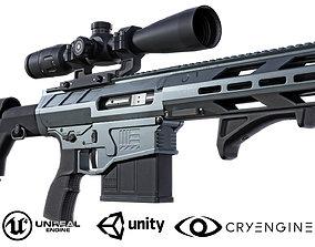 Modern precision rifle 3D asset