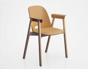 3D model Alfi armchair by Jasper Morrison for Emeco