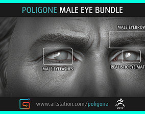 Poligone Male Eye Bundle 3D model
