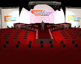 3d catwalk stage and truth background