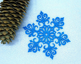 3D printable model Snowflake lace