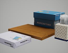 Paper Boxes 3D asset