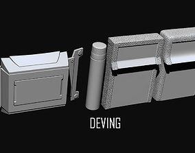 Batman JL-DOJ utility belt 3D print model