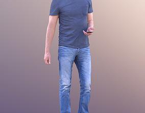 3D asset Lars 10418 - Standing Casual Man hearing Music