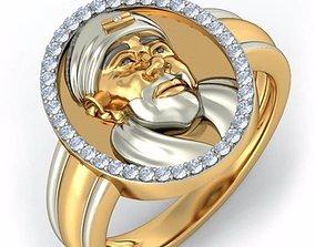3D printable model Sai Baba ring