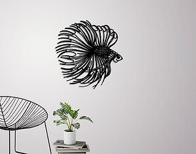 Betta fish wall decoration 3D print model