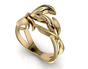 ring 3D printable model RingFlower